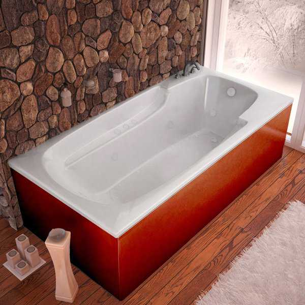 Mountain Home Everest 36x72-inch Acrylic Air and Whirlpool Jetted Drop-in Bathtub
