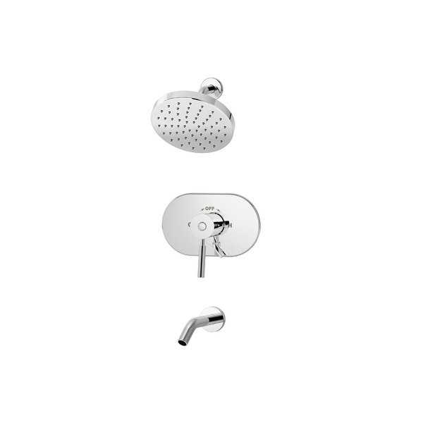Symmons S-4302 Symmons Sereno tub/shower system with lever handle and secondary - CHROME - n/a