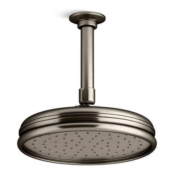 Kohler K-13692 Traditional 8' Round 2.5 GPM Rainhead with Katalyst Air-Induction Spray Technology - N/A
