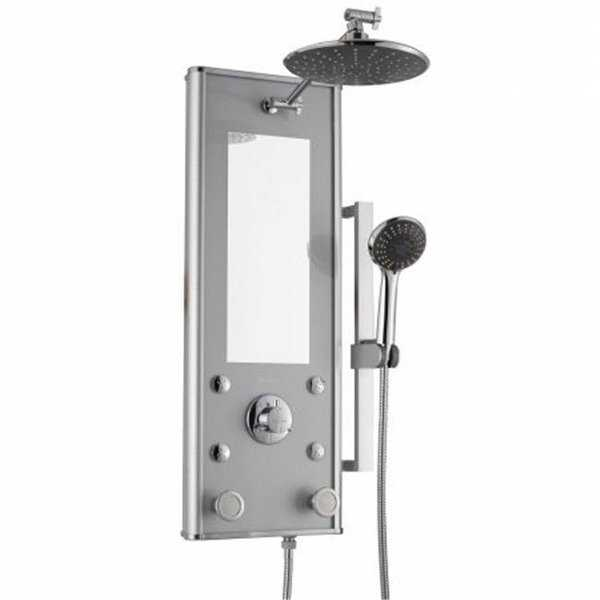 Shangri-La Silver Glass Shower System, Silver