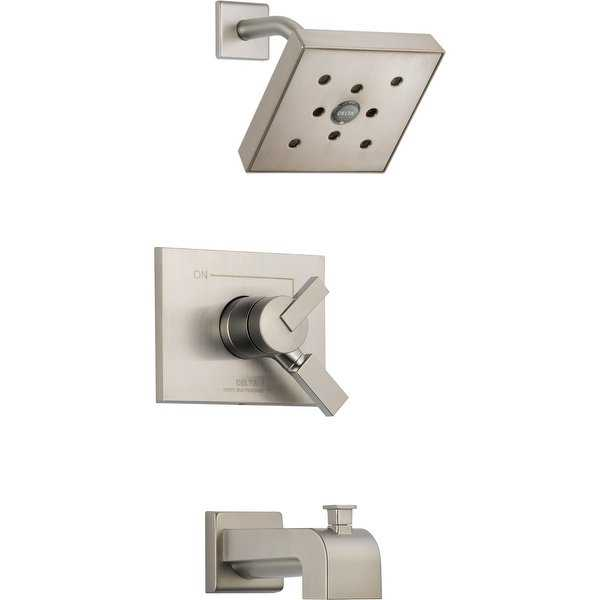 Delta T17453-H2O Vero Monitor 17 Series Dual Function Pressure Balanced Tub and Shower Trim Package with H2Okinetic Shower Head