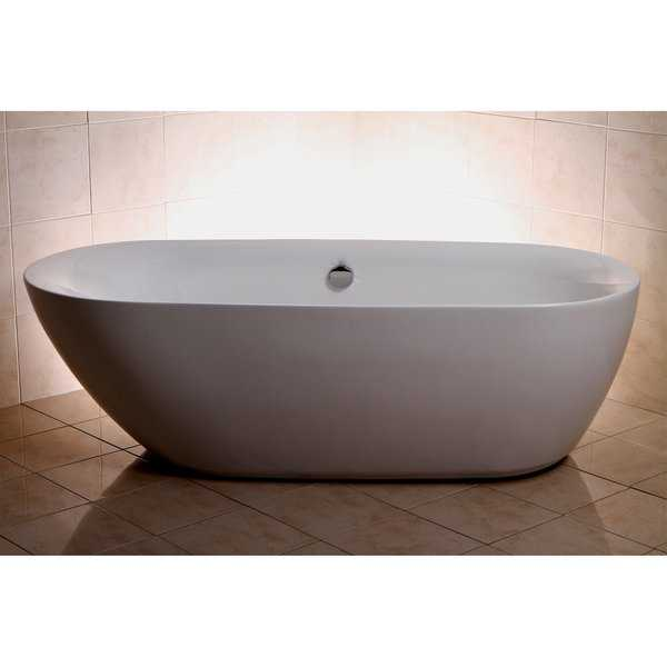Modern Double Ended 71-inch Freestanding Acrylic Bathtub
