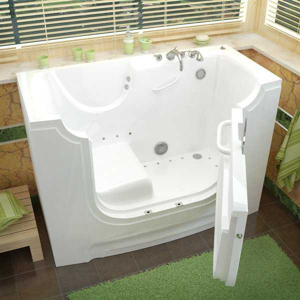 Avano AV3060WCARA Wheelchair Accessible Tubs 60' Gel Coated Air Bathtub for Alcove Installations with Right Drain, Roman Tub