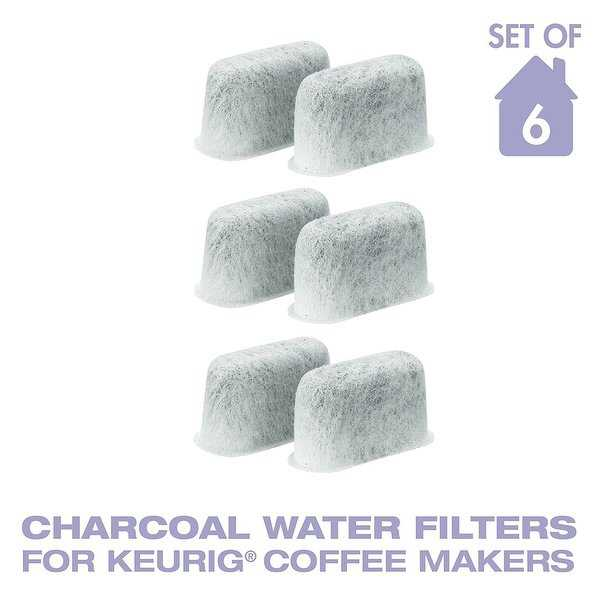 GoldTone Charcoal Water Coffee Filter Cartridges, Replaces Keurig 05073 Charcoal Water Coffee Filters- Set of 6