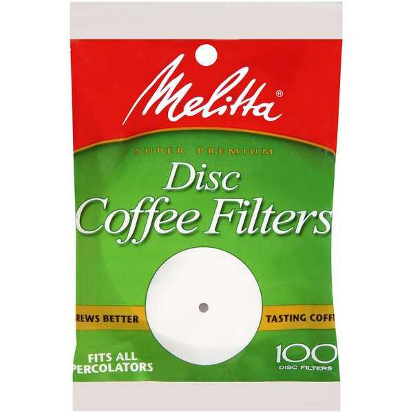 Melitta 628354 3.5 Disc Coffee Filter Paper White, 100 Count