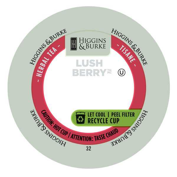 Higgins & Burke Lush Berry Loose Leaf Tea RealCup Portion Pack for Keurig Brewers